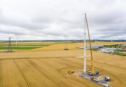 FLERS EN ESCREBIEUX : « Équilibre », une nouvelle génération de pylône sort de terre sur la ligne électrique Avelin Gavrelle